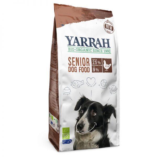 Hundetrockenfutter Bio Huhn und Kräuter Senior (Yarrah)